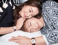 [포토] 신혼 3개월 비-김태희 부부, 시계도 미소도 커플