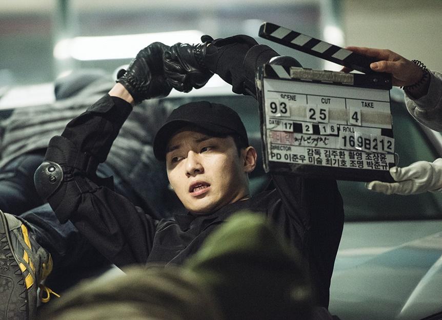 [포토]'청년경찰' 박서준X강하늘 '제대로 한판 붙자'